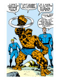 Marvel Comics Retro: Fantastic Four Comic Panel, Thing, Mr. Fantastic, Human Torch Prints
