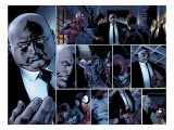 Ultimate Spider-Man 110 Headshot: Spider-Man, Daredevil, Kingpin, and Vanessa Fisk Fighting Prints by Mark Bagley