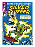 Marvel Comics Retro: Silver Surfer Comic Book Cover No.2, Fighting, When Lands the Saucer! Prints