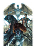 Dark X-Men No.1 Cover: Mystique, Dark Beast and Omega Print by Bianchi Simone
