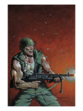 Fury Peachmaker No.2 Cover: Nick Fury Poster by Mark Texeira