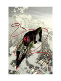 Daredevil 66 Cover: Daredevil Fighting and Flying Print by Alex Maleev