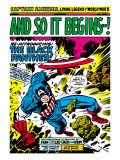 Marvel Comics Retro: Captain America Comic Panel, And So It Begins..! Posters