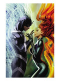 Realm of Kings Inhumans 3 Cover: Medusa and Black Bolt Print by Sejic Stjepan