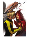 X-Men: First Class No.7 Cover: Angel and Scarlet Witch Prints
