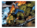 Ultimate Six No.6 Group: Captain America, Green Goblin, Wasp, Thor and Electro Art by Trevor Hairsine