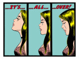 Marvel Comics Retro: Love Comic Panel, Crying, It's All Over! Poster