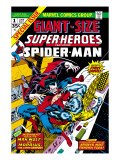 Giant-Size Super-Heroes No.1 Cover: Spider-Man, Morbius and Man-Wolf Fighting Prints by Gil Kane