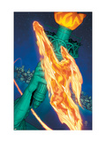 Marvel Knights 4 15 Cover: Human Torch Art by MCNiven Steve