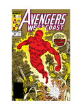 Avengers West Coast No.50 Cover: Human Torch, Hammond and Jim Art by Byrne John