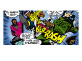 Marvel Comics Retro: Luke Cage, Hero for Hire Comic Panel, Kicking and Fighting Prints