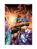 Fantastic Four No.572 Cover: Thing, Invisible Woman, Mr. Fantastic and Human Torch Art by Davis Alan