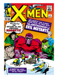 Marvel Comics Retro: The X-Men Comic Book Cover No.4, Scarlet Witch, Quicksilver, Toad, Magneto Posters