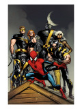 Ultimate Spider-Man No.120 Cover: Spider-Man, Wolverine, Nightcrawler, Cyclops, Phoenix & Colossus Prints by Immonen Stuart