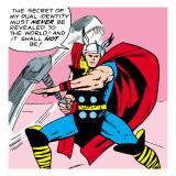 Marvel Comics Retro: Mighty Thor Comic Panel Kunstdruck
