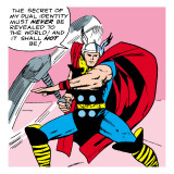 Marvel Comics Retro: Mighty Thor Comic Panel Poster