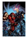 New Excalibur 3 Cover: Juggernaut and Professor X Print by Michael Ryan