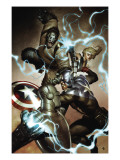 Agents of Atlas No.3 Cover: Captain America, Namora, Gorilla-Man and M-11 Art by Granov Adi