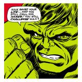 Marvel Comics Retro: The Incredible Hulk Comic Panel Kunst