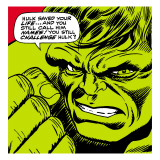 Marvel Comics Retro: The Incredible Hulk Comic Panel Prints