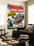 Tales Of Suspense No.53 Cover: Iron Man and Black Widow Flying Wall Mural by Don Heck