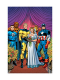 New Avengers 8 Cover: Captain America, Sentry, Mr. Fantastic, Thing, Iron Man and Spider-Man Posters par David Finch