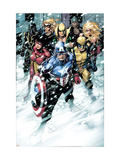 Free Comic Book Day 2009 Avengers 1 Group: Captain America Prints by Jim Cheung