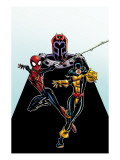 Spider-Girl 92 Cover: Spider-Girl, Shadowcat and Magneto Poster by Ron Frenz