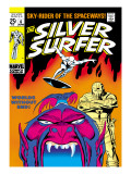 Marvel Comics Retro: Silver Surfer Comic Book Cover No.6, Worlds Without End! Poster