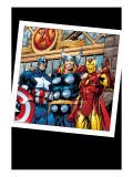 Thor No.73 Group: Thor, Iron Man and Captain America Prints by Scot Eaton