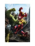 Marvel Adventures Iron Man Special Edition #1 Cover: Iron Man, Hulk and Spider-Man Poster van Francisco Ruiz Velasco