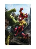 Marvel Adventures Iron Man Special Edition No.1 Cover: Iron Man, Hulk and Spider-Man Poster von Ruiz Velasco Francisco