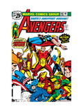 Avengers No.148 Cover: Iron Man, Captain America, Hyperion, Thor, Avengers and Squadron Supreme Poster by George Perez