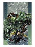 Ultimate Wolverine vs. Hulk No.5 Cover: Wolverine and Hulk Print by Yu Leinil Francis