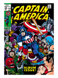 Marvel Comics Retro: Captain America Comic Book Cover 112, Album Issue! Posters