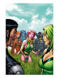 Exiles No.6 Cover: Blink, Polaris, Scarlet Witch, Black Panther and Beast Pósters por Espin Salvador
