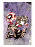 Wolverine Captain America 4 Cover: Wolverine and Captain America Art by Tom Derenick