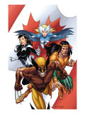 Wolverine: First Class No.5 Cover: Wolverine, Snowbird, Aurora and Shaman Posters by Salvador Espin