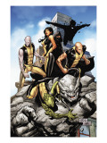 Young X-Men 10 Cover: Anole, Rockslide, Greymalkin, Dust, Mirage, Sunspot and Ink Posters by Tan Billy