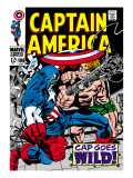 Marvel Comics Retro: Captain America Comic Book Cover No.106, Cap Goes Wild Posters