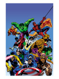 Secret Wars Cover: Captain America Posters par Mike Zeck