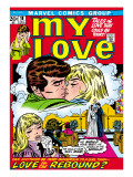 Marvel Comics Retro: My Love Comic Book Cover 18, Kissing, Love on the Rebound Kunst