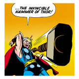 Marvel Comics Retro: Mighty Thor Comic Panel, Throwing Hammer Prints