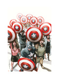 Captain America: The Chosen No.6 Cover: Captain America Prints by Mitchell Breitweiser