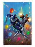 Punisher Vs. Bullseye No.4 Cover: Punisher and Bullseye Smashing Posters by Mark Texeira