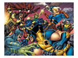 Eternals 8 Group: Wolverine, Ikaris, Beast, Vampiro, Eramis and Druig Prints by Eric Nguyen