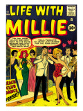 Marvel Comics Retro: Life with Millie Comic Book Cover No.13, Bathing Suit, Beach Club Dance Prints