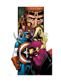 Avengers/Thunderbolts No.1 Cover: Baron Zemo, Captain America, Moonstone, Hawkeye, Wasp & Avengers Print by Kitson Barry
