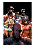 Squadron Supreme 5 Cover: Nick Fury, Arcanna, Old Soldier, Biogeneral, Ruggles, Nell and Blur Print by Land Greg