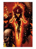 X-Men: Legacy 211 Cover: Dark Phoenix, Brood, Nova and Cassandra Prints by David Finch